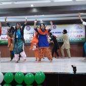 Cultural Programmes by NSS volunteers of Punjab & Andhra Pradesh states under EBSB in NIC at Surampalem,  Andhra Pradesh